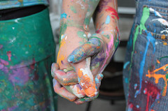 Painted Hand Holding